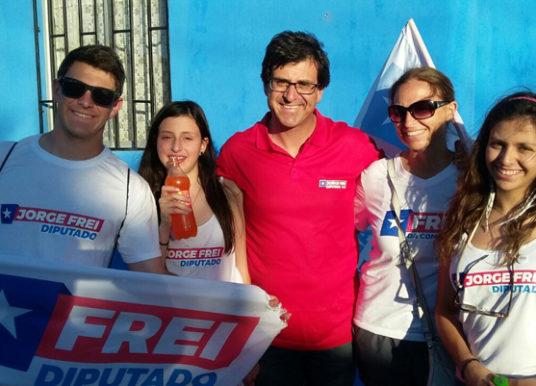 Jorge Frei culmina su campaña electoral en terreno y con la gente