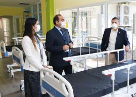 Región de O'Higgins: Instalan las primeras 50 camas en Hospital de Campaña en Estadio El Teniente