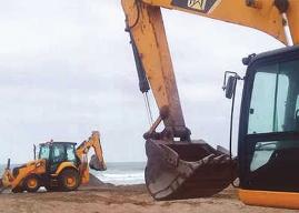 Primer Tribunal Ambiental dicta medida cautelar y suspende obras de fibra óptica 5G en Playa el Lápiz de La Serena